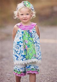 2de21ef95 Haute Baby - Garden Blossom Tunic Set | Sewing | Cute baby dresses ...