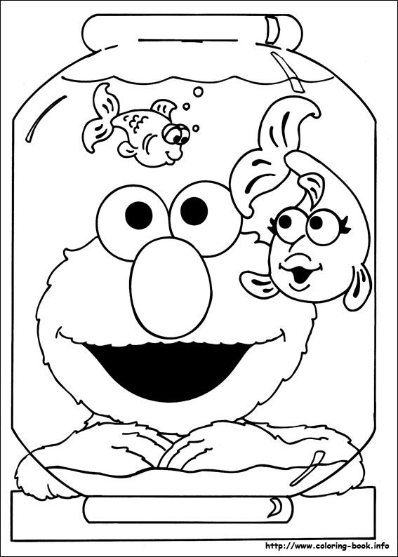 sesame street coloring picture - Sesame Street Coloring Pages Elmo