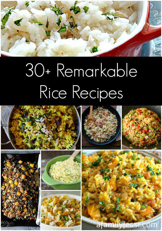 30+ Remarkable Rice Recipes #ricecookermeals
