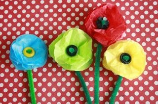 Tutorial Cara Membuat Bunga Dari Kertas Minyak Dengan Mudah Bunga Kertas Tisu Kerajinan Kertas Tisu Kids Crafts