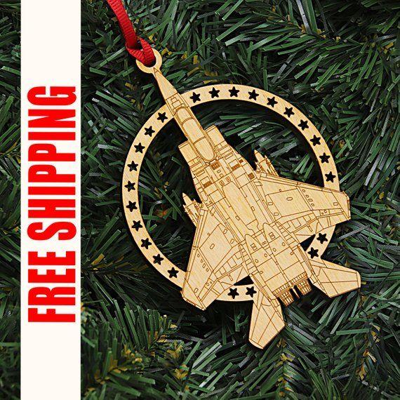 F15 Strike Eagle Christmas Ornament, Aviation Gifts