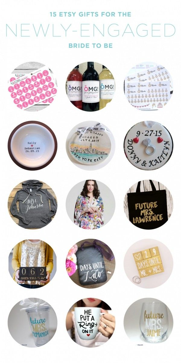 15 Etsy Gift Ideas For The Newly Engaged Bride To Be Great Engagement Gifts