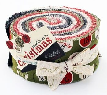 countdown to christmas jelly roll strips moda fabrics sweetwater