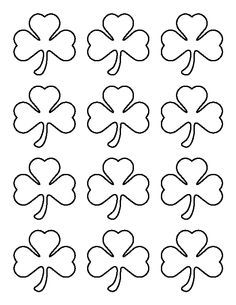Pin by Pam Hamilton on art | Shamrock template, Shamrock ...