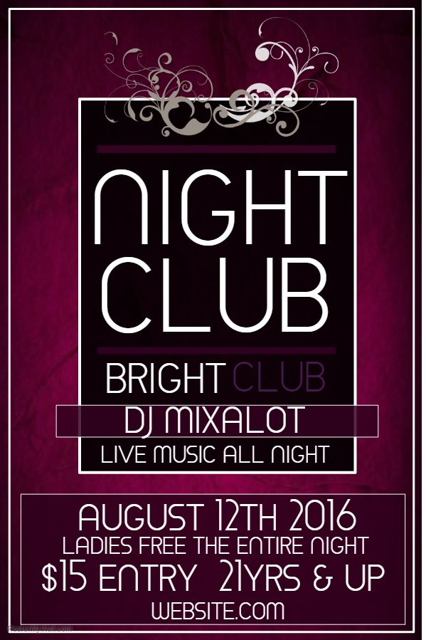 night club poster template party and nightclub posters