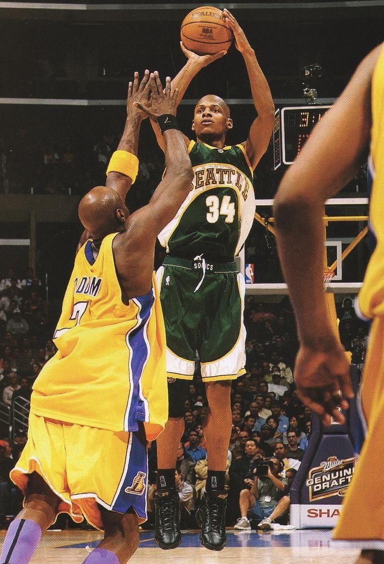 Allen Spots Up For A Jumper Basketball Is Life Nba Legends Nba Sports