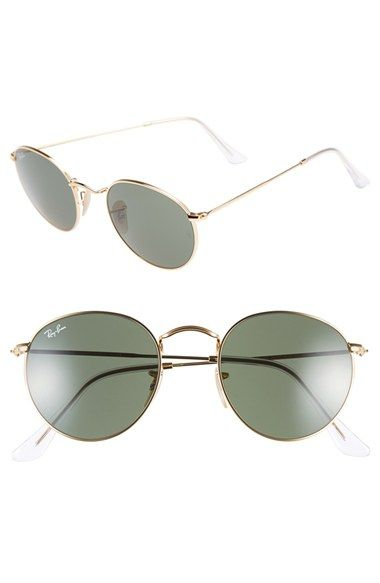 be1987018f69e Free shipping and returns on Ray-Ban 50mm Rounded Sunglasses at  Nordstrom.com. Sleek rounded frames epitomizing retro style define  lightweight metallic ...