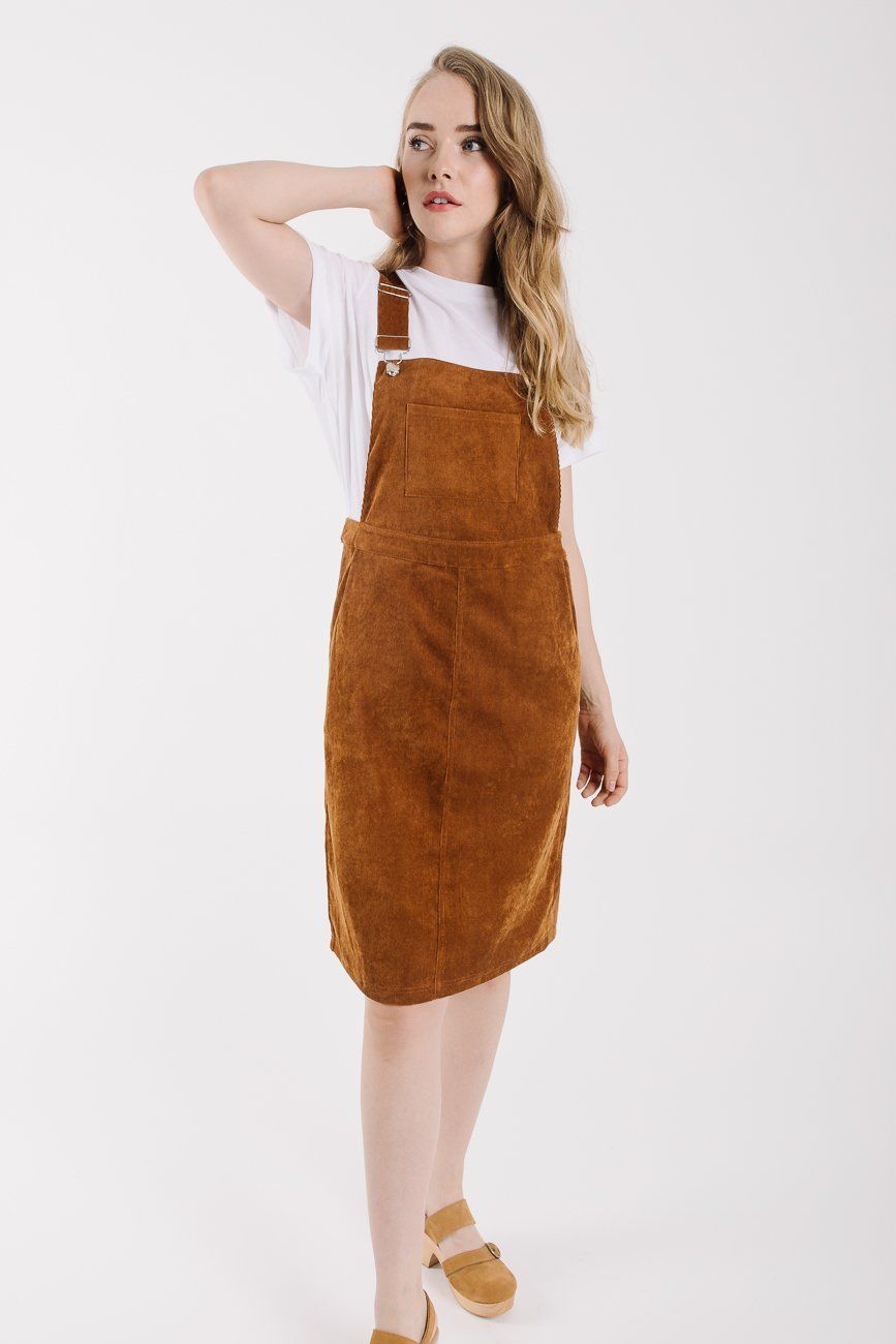 21cd6614 The Olivia Corduroy Jumper Dress in Camel in 2019 | it's just ...