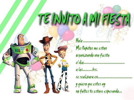 Tarjetas De Invitación Para Cumpleaños De Toy Story Imagui