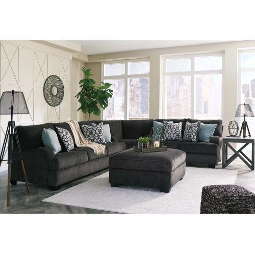 Best Charenton Charcoal 3 Piece Sectional Charcoal Sofa 400 x 300