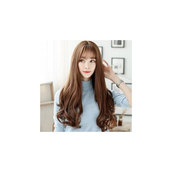 Clip On Hair Extension - Straight ($17) ❤ liked on Polyvore featuring beauty products, haircare, hair styling tools, accessories and wig
