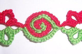 Mariya's Tatting: Two-coloured spirals