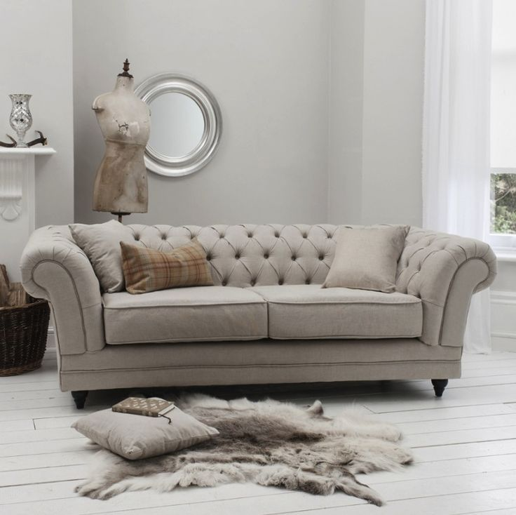chesterfield sofa bed mink | home | Pinterest | Beige, Sofá y Sillones