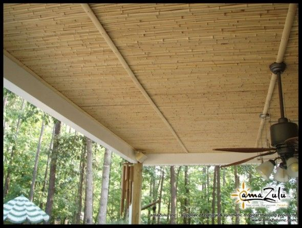 Patio Ceiling With Bamboo With Images Bamboo Ceiling Bamboo
