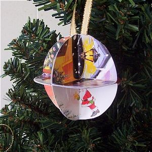 Marvelous Free Recycle Christmas Cards Into Ornaments Craft