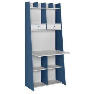 Buy Auckland Wall Unit Desk - White and Blue at Argos.co.uk - Your ...