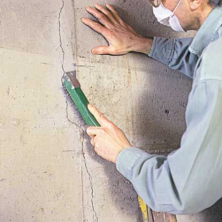 Do Your Concrete Walls Have Cracks Discover A Simple Effective Way To Patch Cracks In Poure Waterproofing Basement Repair Cracked Concrete Concrete Walls Diy