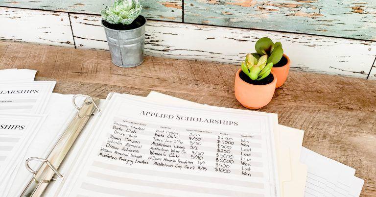 How to organize your scholarship binder scholarships