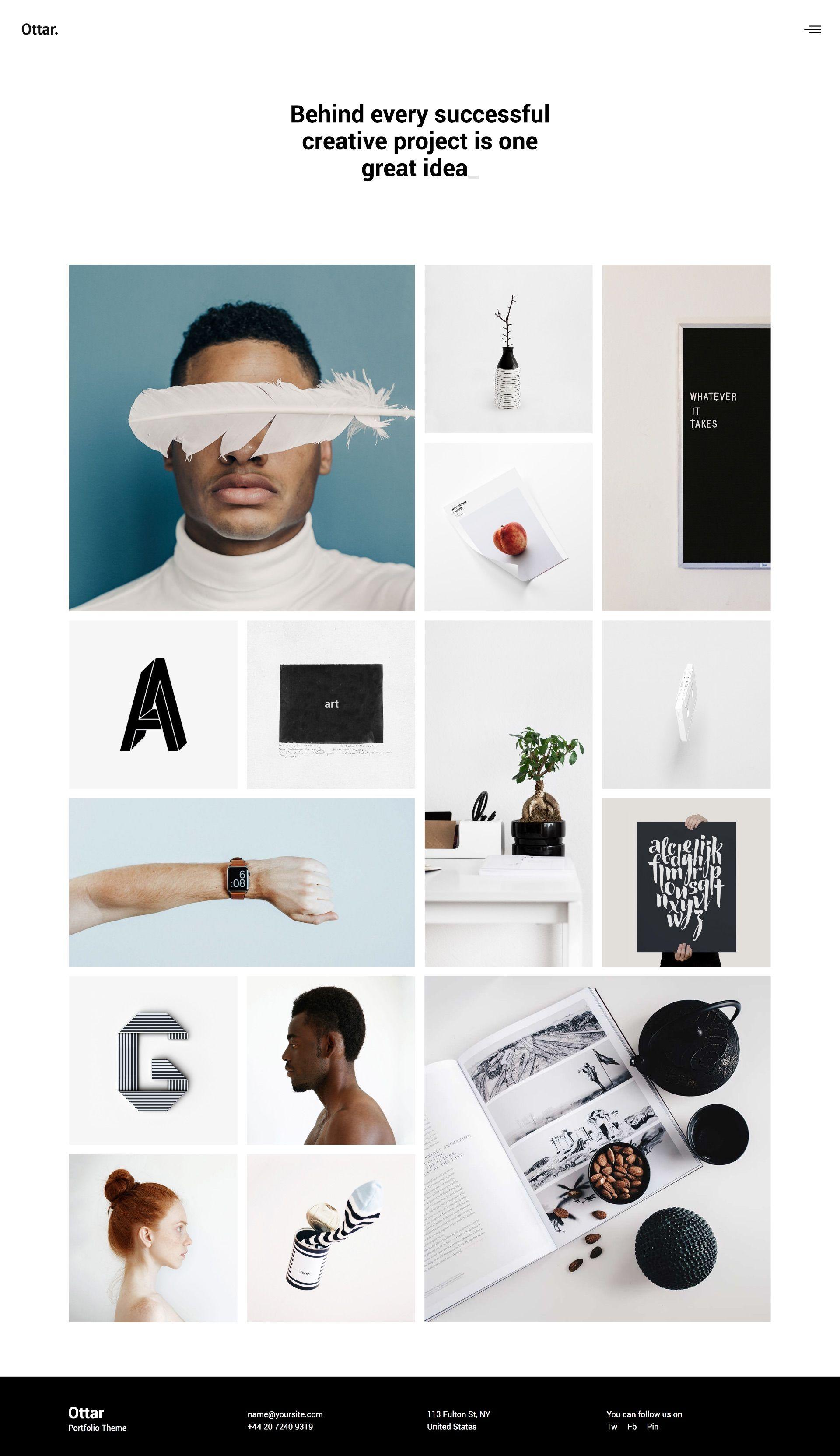 design inspiration for creative portfolio website. wordpress theme