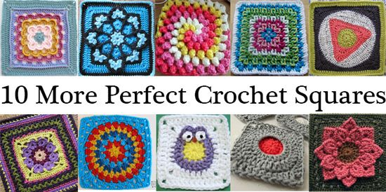 10 More Perfect Crochet Squares for Afghans | Crochet squares, Free ...
