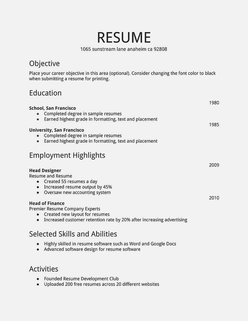 Cv Template 17 Year Old Resume Examples First Job Resume Job Resume Template Simple Resume Examples