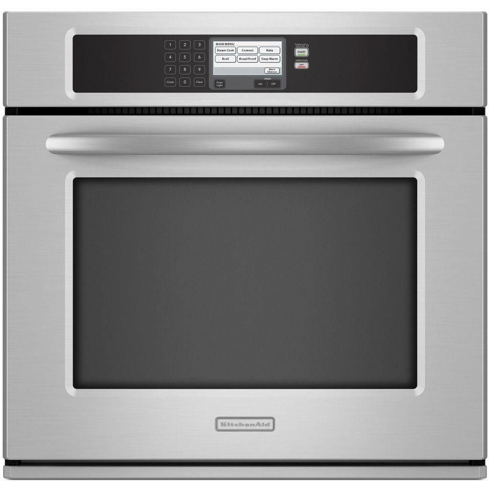 Good KitchenAid Architect Series II 30 In. Single Electric Wall Oven  Self Cleaning With Convection In Stainless Steel