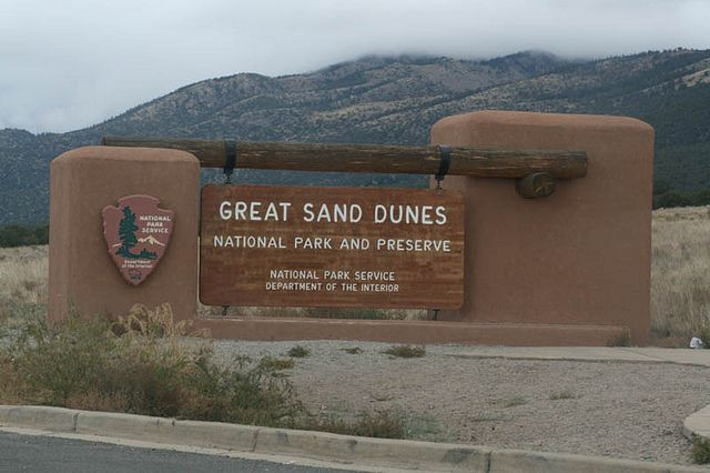 Great Sand Dunes National Park in the state of Colorado