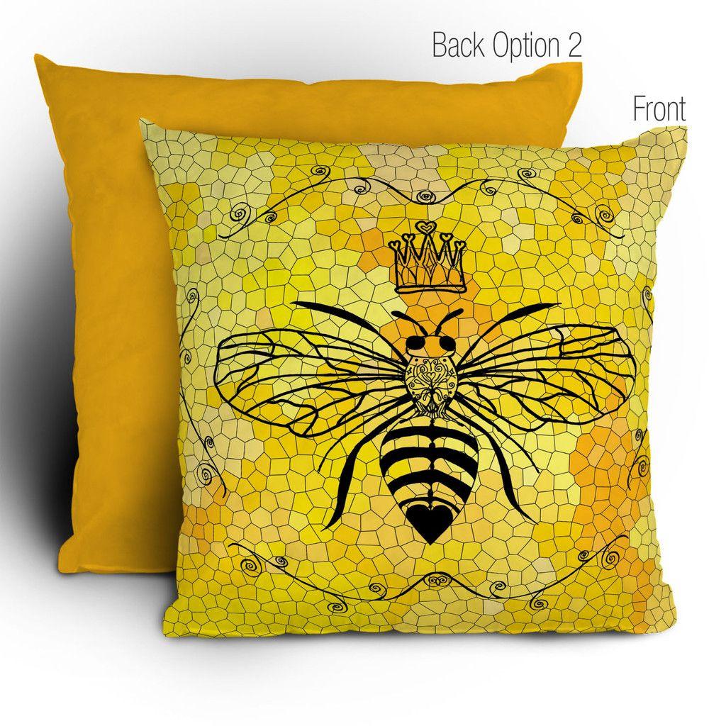 Lisa argyropoulos queen bee throw pillow queen bees throw pillows