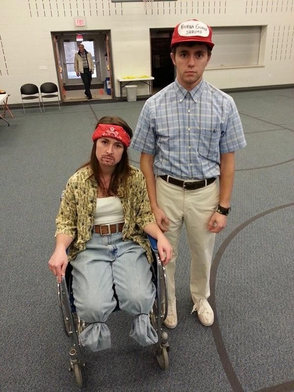 Forest Gump and Lieutenant Dan Halloween Costume - My Wife and I Pre