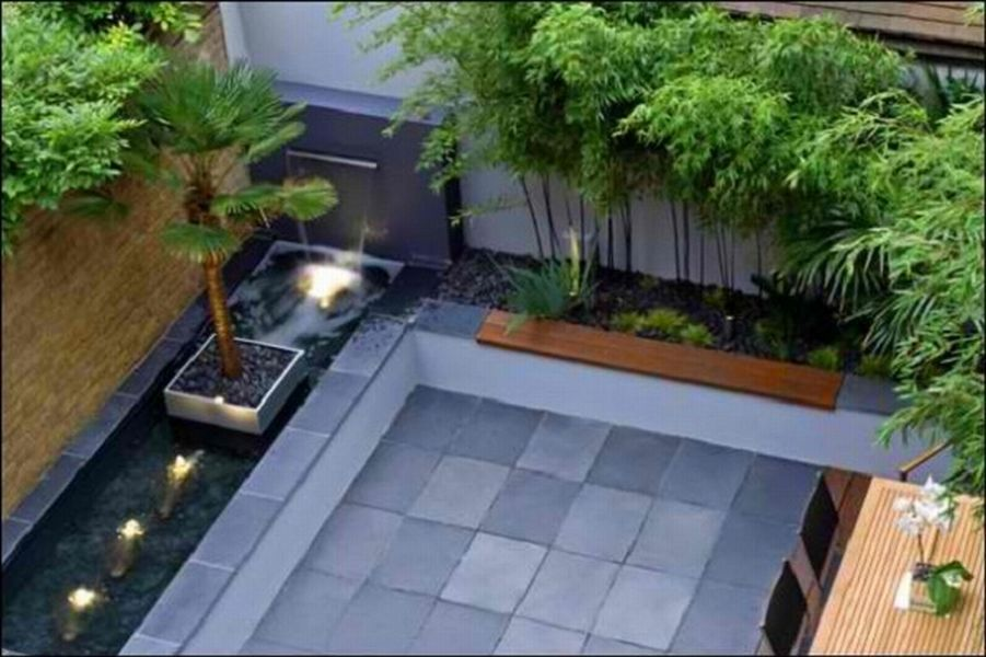 Attractive Modern Backyard Landscaping Ideas Minimalist And Modern Garden In Concept Of A Beautiful Gardens Backyard Landscaping Designs Courtyard Gardens Design Small Backyard Landscaping
