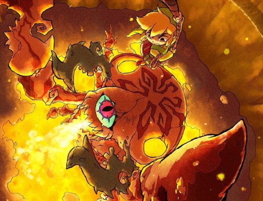 Wind Waker boss battle (With images) Zelda art, Wind