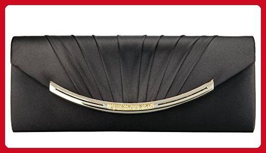 51015f7d41088 Grace Angel Women s Pleated Satin Clutch Purse Crystal Wedding Prom Evening  Handbags GA13763 - Evening bags ( Amazon Partner-Link)