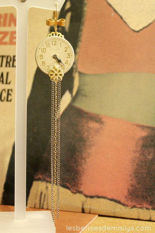 Boucle d'oreille bijou style vintage / par lesbetisesdemailys, $40,00