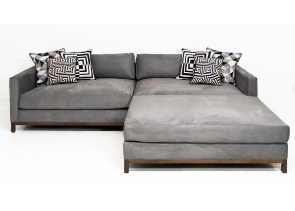 Extra New Deep Sectional In Charcoal Velvet With Images Deep Sectional Sofa Deep Sofa Deep Sofa Comfy Couches
