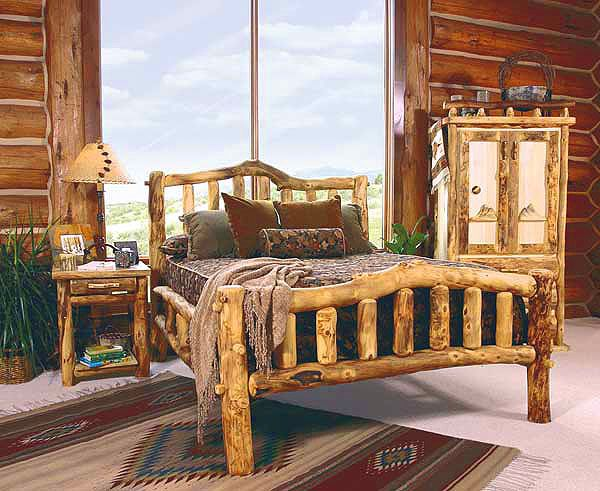 Log Bedroom Furniture | ... Log Bedroom Furniture | Log Furniture Bed | Reclaimed Wood Log Beds