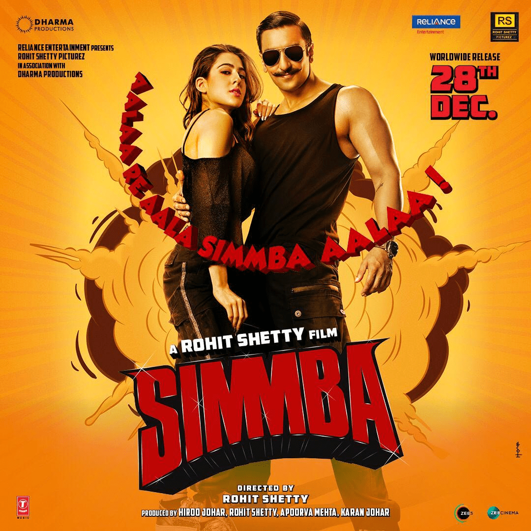 Simmba Movie Latest Release Date Poster Social News XYZ
