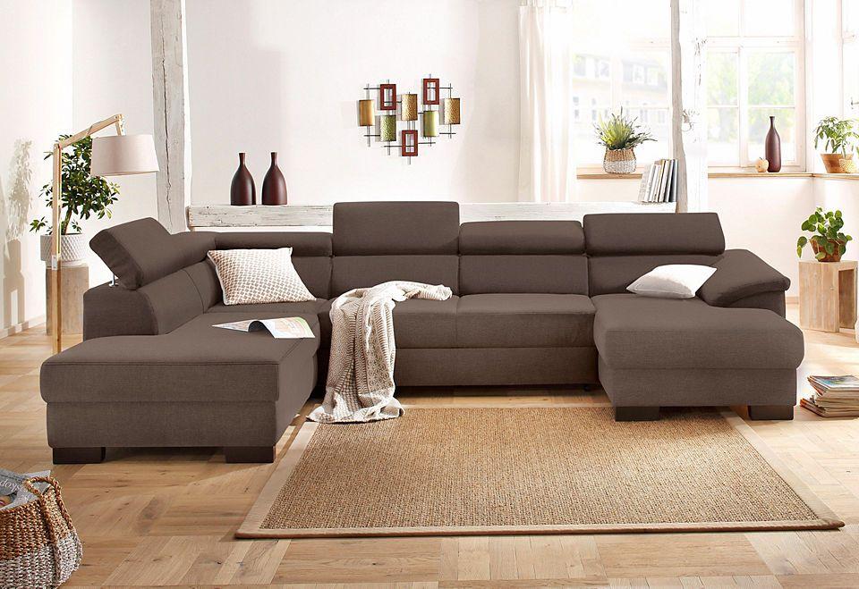 Home affaire Wohnlandschaft »Mika«, wahlweise mit Bettfunktion Jetzt - wohnzimmer bilder braun beige