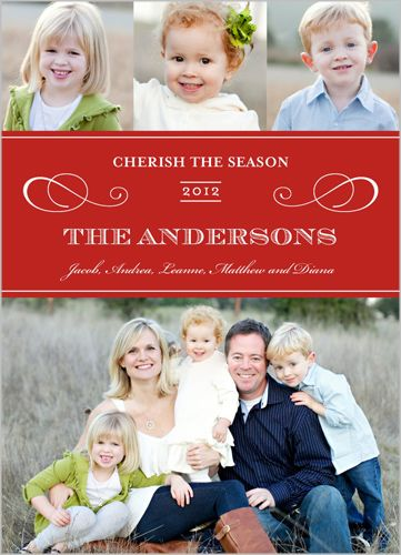 Flourished With Elegance Holiday Card 2012 Holiday Card Trends