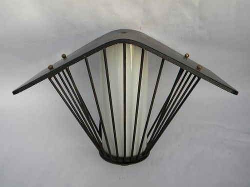 Retro mid-century Eames vintage architectural porch light sconce ...