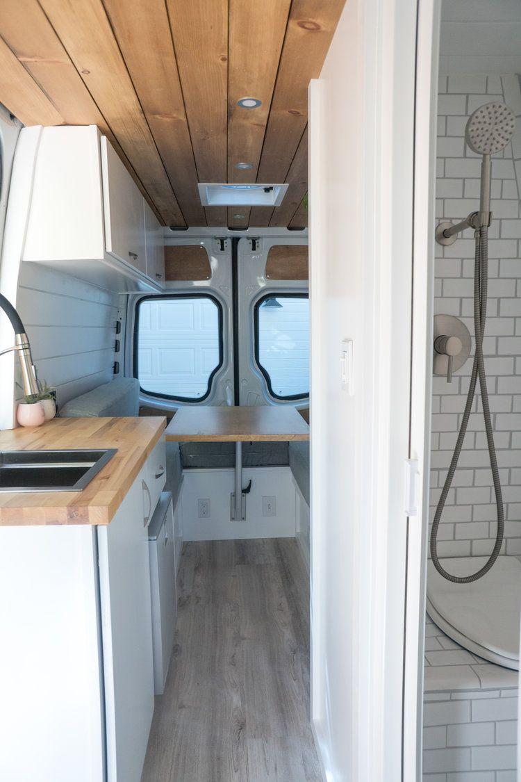 144 Sprinter Van With Bathroom Our Latest Van Build Sara Alex James 40 Hours Of Freedom Van Conversion Bathroom Van Conversion Interior Van Home