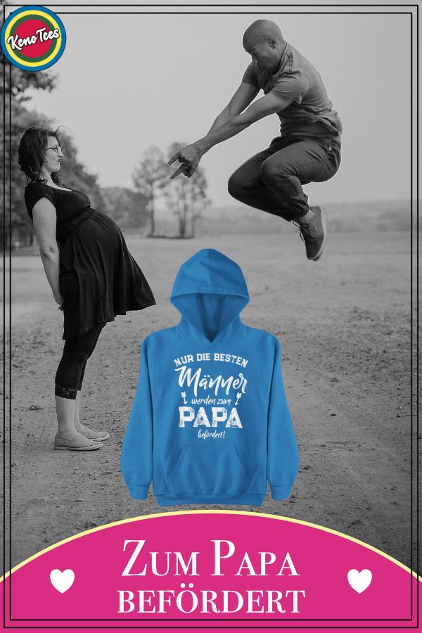 Werdender Vater Geschenk - zum Papa befördert | Männer Premium ...