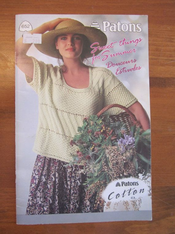 Patons Beehive Knit Sweater Pattern Book No By Curiouscatvintage