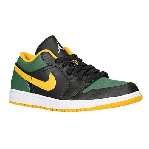 Jordan AJ1 Low - Black/Gorge Green/White/University Gold | Jamaican  Independence