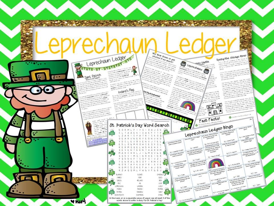 Leprechaun Ledger-History of St Patricku0027s Day Newspaper Style - ledger form