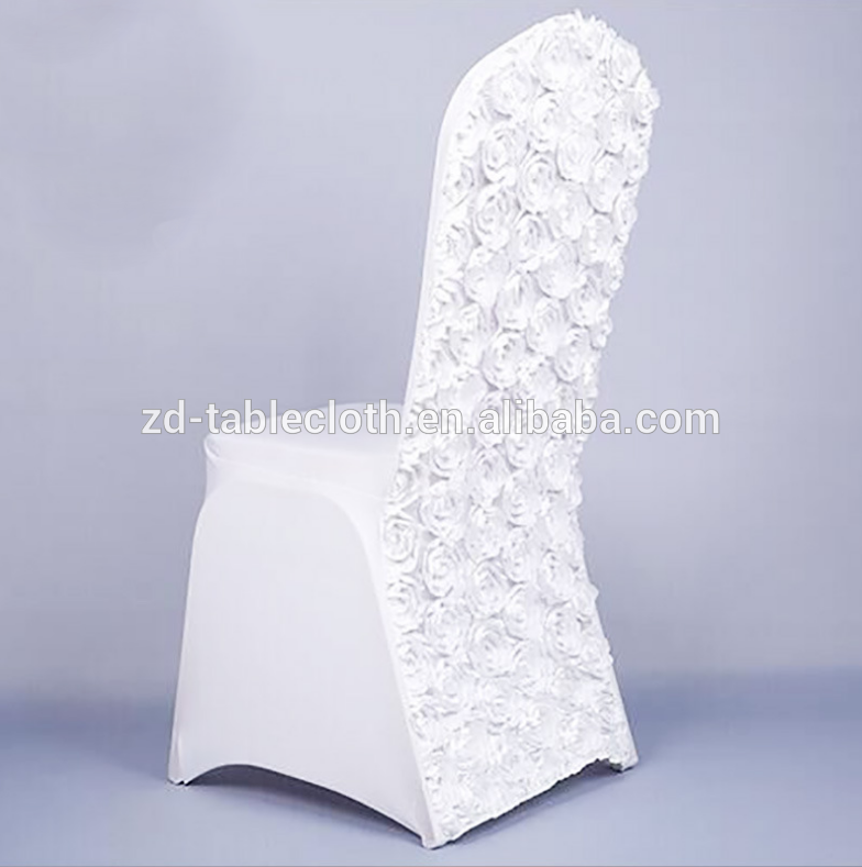 Fantastic Fancy White Rosette Back Spandex Chair Cover For Wedding Theyellowbook Wood Chair Design Ideas Theyellowbookinfo