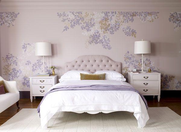Bedroom Color Schemes Violet Touch Soft Purple Housefashions Inspiration
