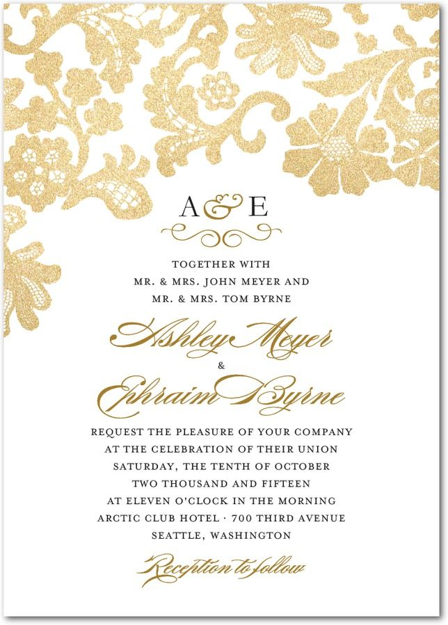Luscious Lacing Wedding Invitation – Wedding Paper Divas Bridal Shower Invitations