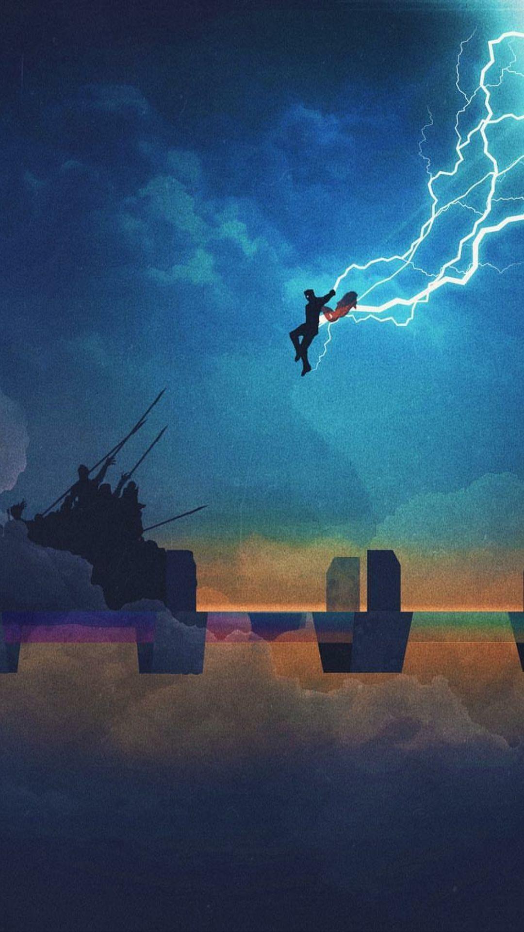 Look At My Little Baby Flying Across The Bifrost Like A Little Thunderous Angel Marvel Wallpaper Thor Wallpaper Marvel Thor