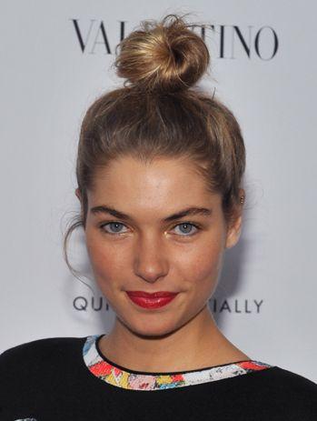 Jessica Hart top knot