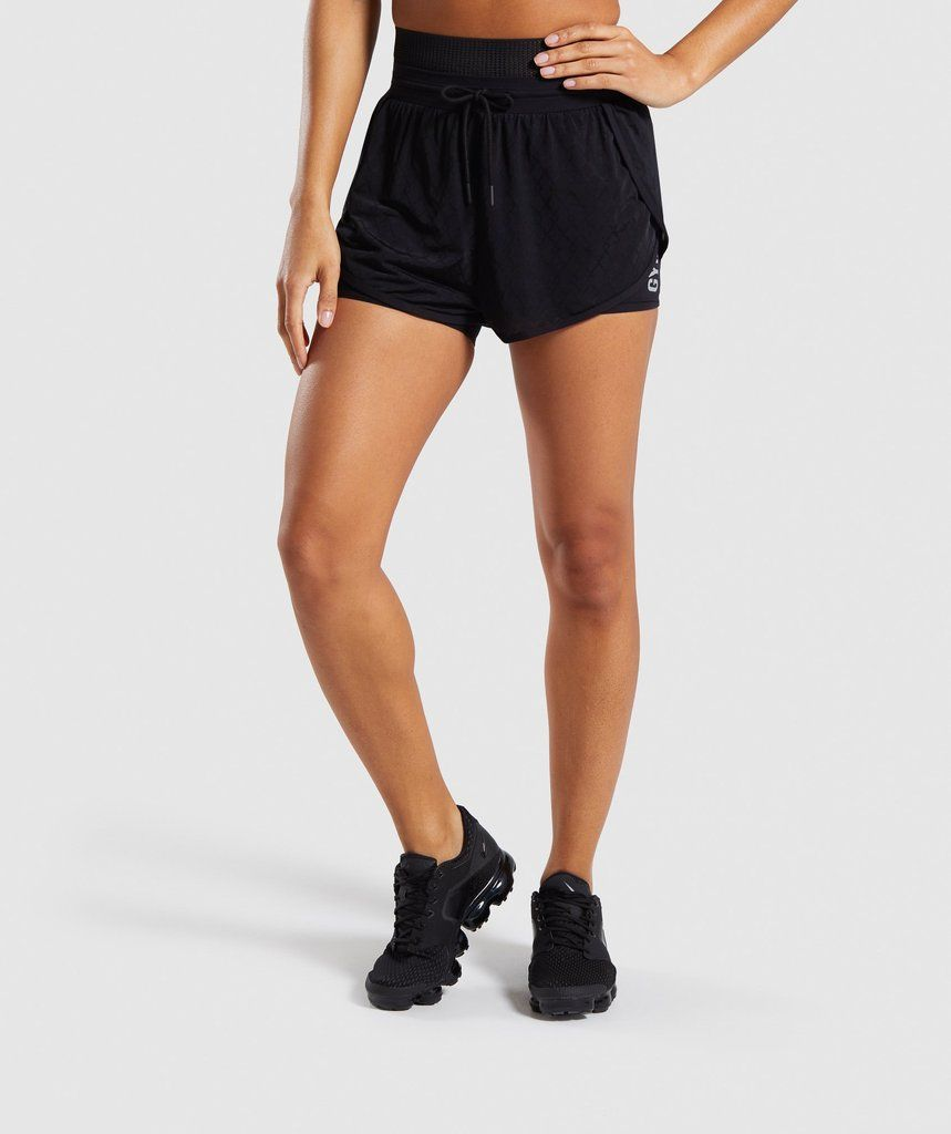 2bd1fb57e4d0 Gymshark Geo Mesh Two In One Short - Black 1 | Workout outfits in ...